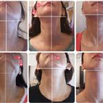 隠れゆがみを発見する方法! 首のトップの傾きが 耳と顎のズレを作るんです。